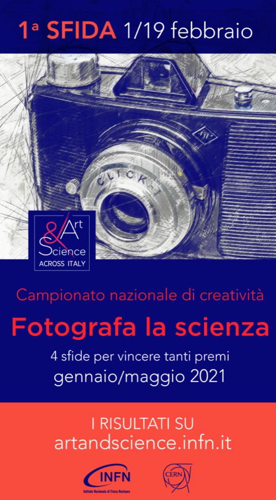 Fotografa la scienza , 4 sfide per vincere tanti premi  gennaio/maggio 2021
